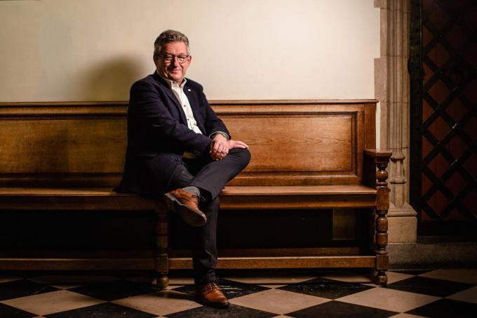 """Burgemeester Dirk De fauw: """"We trekken lessen uit corona en wllen de solidariteit onder de Bruggelingen behouden. (Foto Davy Coghe)©Davy Coghe Davy Coghe"""