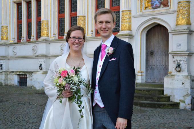Barones Victoria de Moffarts en Jonkheer Nicolas de Séjournet de Rameignies. Het koppel gaat in Brussel wonen. (foto WK)