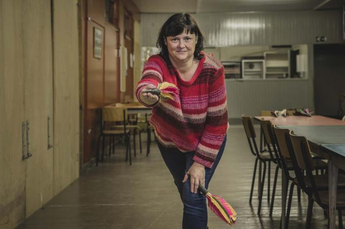 Kathy Devos, dochter van Roland en kleindochter van oprichter Ernest 'Julien' Gouwy.© Olaf Verhaeghe