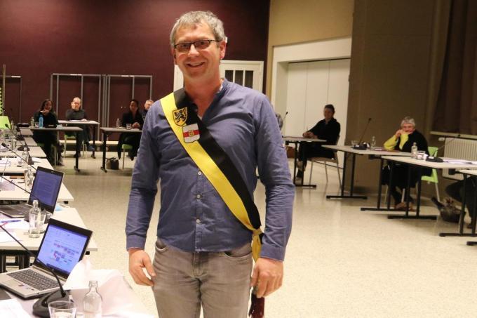 Bart Vanacker legde tijdens de laatste gemeenteraad de eed af als schepen.©Eric Flamand EF