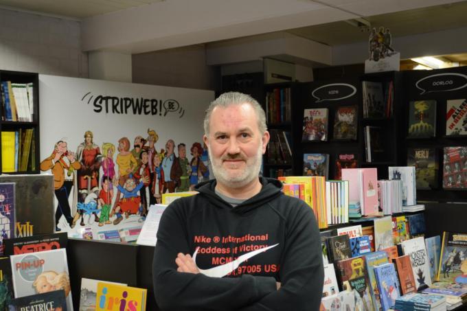 Christophe Casier werkt vanuit Wevelgem aan de grootste stripwinkel van België©SLW SLW