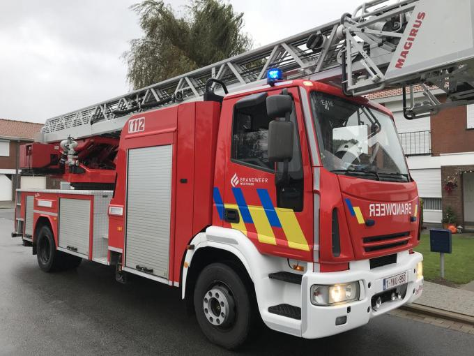 De brandweer was snel ter plaatse en had de brand snel onder controle.© JH