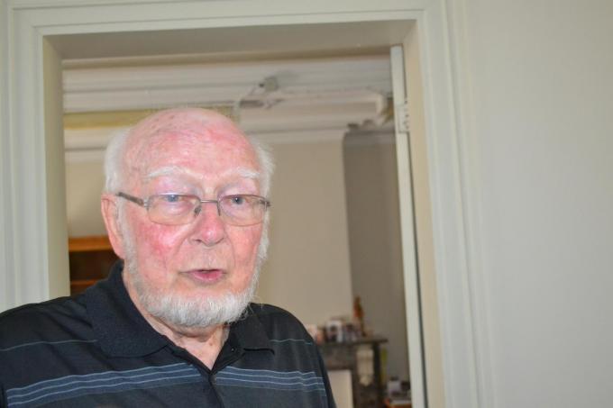 Pater Lieven Laga in augustus 2020, bij zijn afscheid van het Deerlijkse woon-zorgcentrum.© MVD