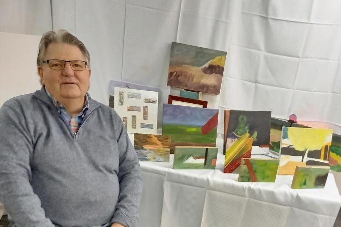 Ronald Lassalle, van slager tot hobbyschilder.