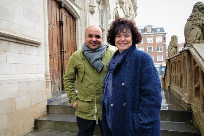 David Wemel (Groen) en Hannelore Vanhoenacker (CD&V), zien ruimte voor verbetering, maar rekenen op inspraak.© AN