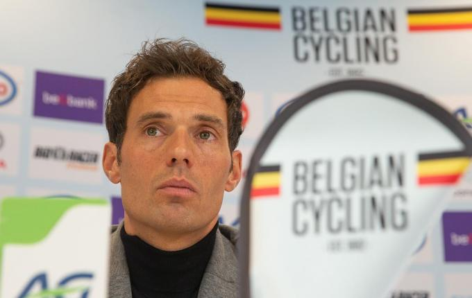 Belgian national coach Sven Vanthourenhout pictured during a press conference to present the Belgian selection for the UCI World Championships Cyclocross next 1-2 February, in Dubendorf, Switzerland, at the Belgian cycling federation in Tubize, Monday 20 January 2020. BELGA PHOTO JAMES ARTHUR GEKIERE© BELGA