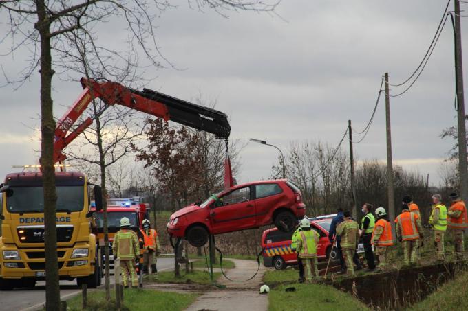 De auto moest worden getakeld.© TP