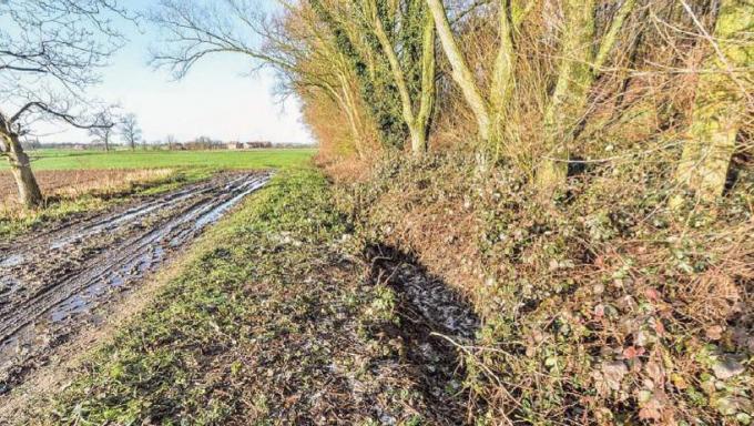In deze doodlopende landweg werd het lichaam gevonden. (archief LVW)