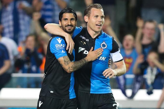 Lior Refaelov, hier met Ruud Vormer, speelde tussen 2011 en 2018 voor Club Brugge.© Belga