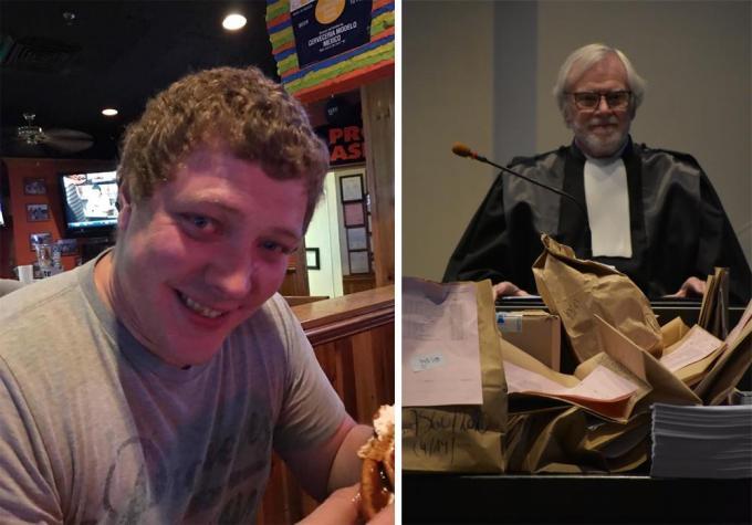 Beschuldigde John Vandoolaeghe (links) en bijzitter Paul Gevaert (rechts).© gf/LK