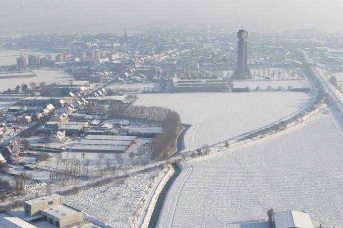 Een beeld van 2010, toen Diksmuide met een sneeuwtapijt bedekt was.©Kurt Desplenter Kurt Desplenter