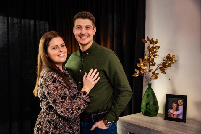 """Dias en Lise Ghysbrecht: """"Op 24 juli trouwen we sowieso voor de wet. We zien dan wel of er iets mogelijk is.""""© Foto Kurt"""