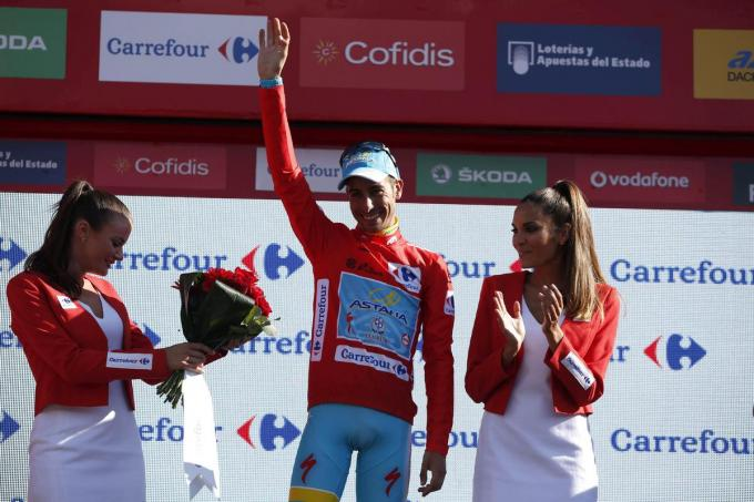 Fabio Aru won in 2015 de Vuelta voor zijn team Astana.© Belga