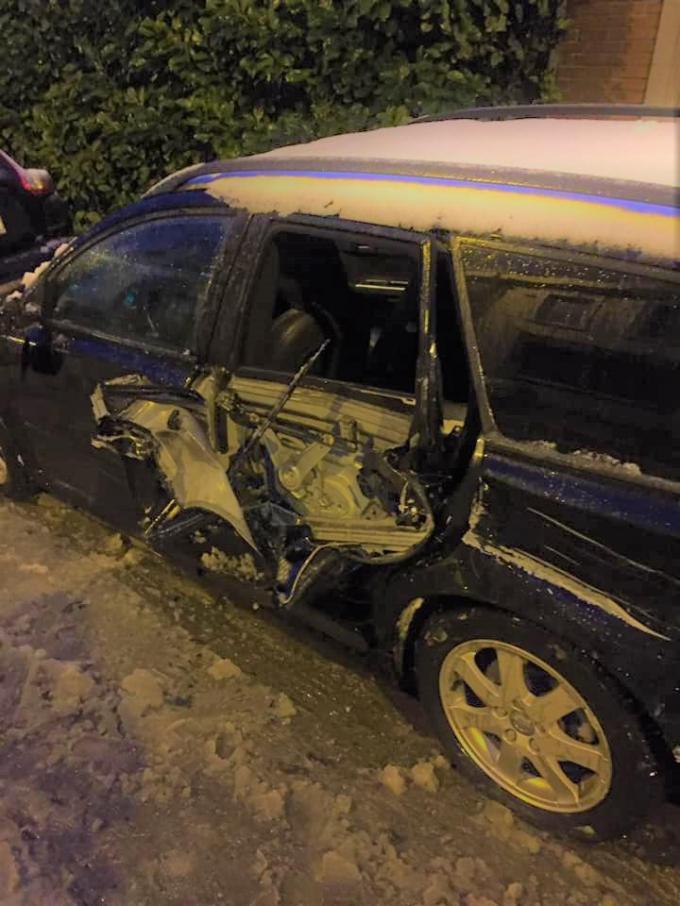 De schade aan de auto was groot.© GF