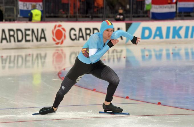 Mathias Vosté aan de start van een drukke schaatsmaand.©Martin de Jong
