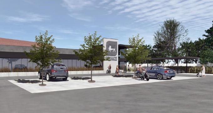 Het warenhuis ondergaat een metamorfose en zal er straks zo uitzien. Met dank aan Desmet & Lammens architecten.©JS