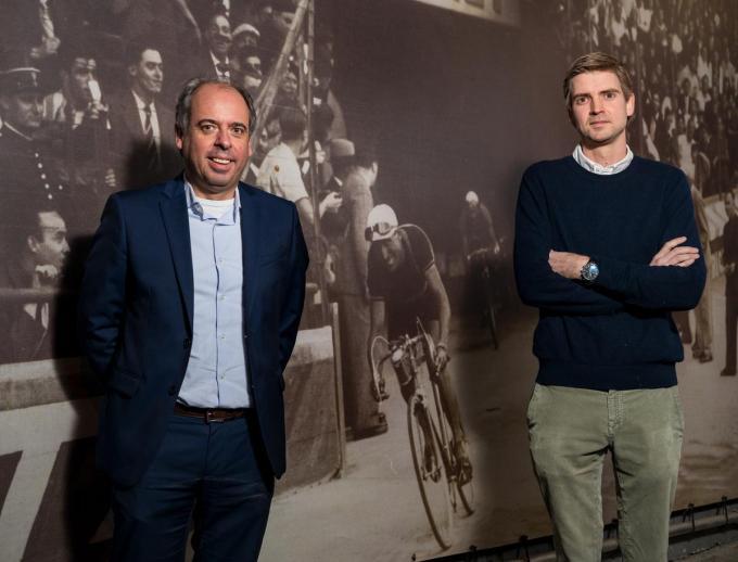 Dirk Declercq, voorzitter Wielervereniging Bolderhof en Alexander Lemayeur, voorzitter Kortrijk Koerse.©David Barbe David Barbe