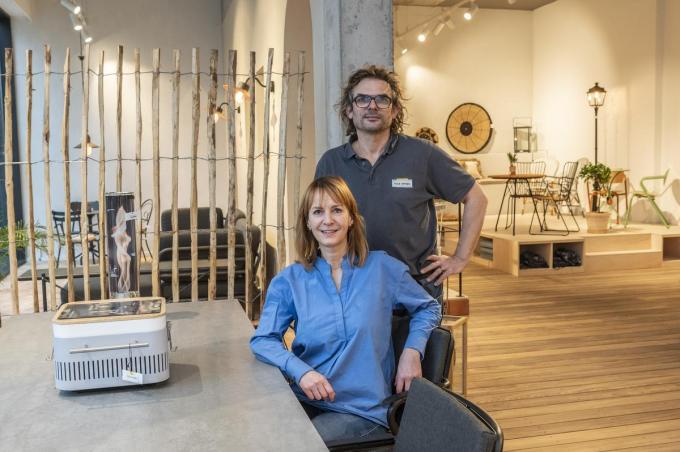 Nancy en Geert gaan met Vida Design nog een stapje verder. (foto SB)©STEFAAN BEEL Stefaan Beel
