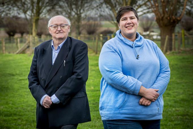 Rudi Debusschere en Elien Rosseel, de twee nieuwe raadsleden van Samenplus.©JOKE COUVREUR