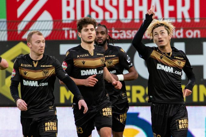 Yuma Suzuki mocht tweemaal juichen tegen de Kerels.©KURT DESPLENTER Belga