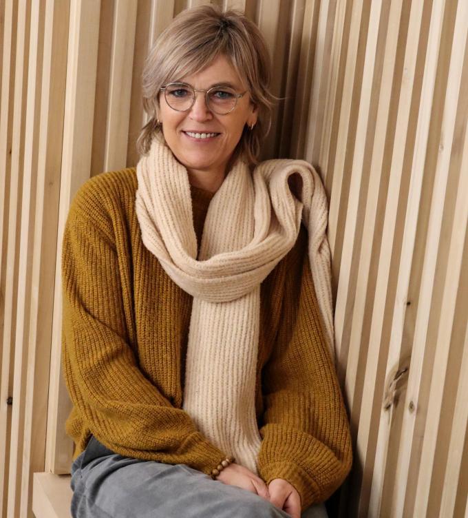 Ann Roelens in CC Gildhof, waar het acteerwerk voor haar begon.© KV