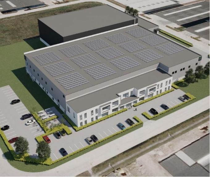 Ducaju wil de nieuwe bedrijfsgebouwen eind dit jaar of uiterlijk begin 2022 in gebruik nemen.©Philippe Verhaest Peynsaert Architecten