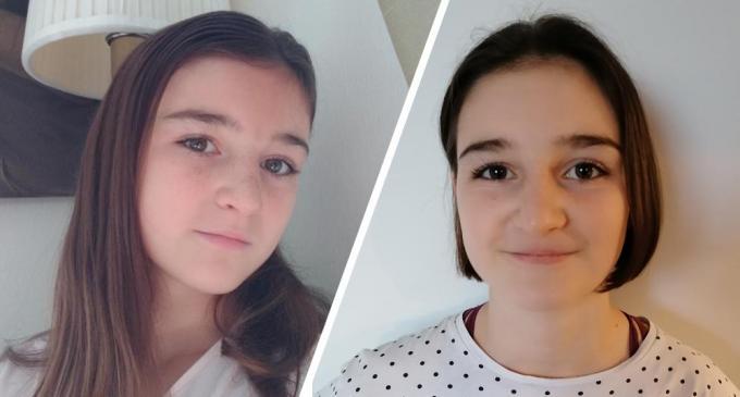 Emma Van Overloop (13) uit Brugge spaarde liefst 7 jaar om haar haar te kunnen doneren aan Think Pink.© gf