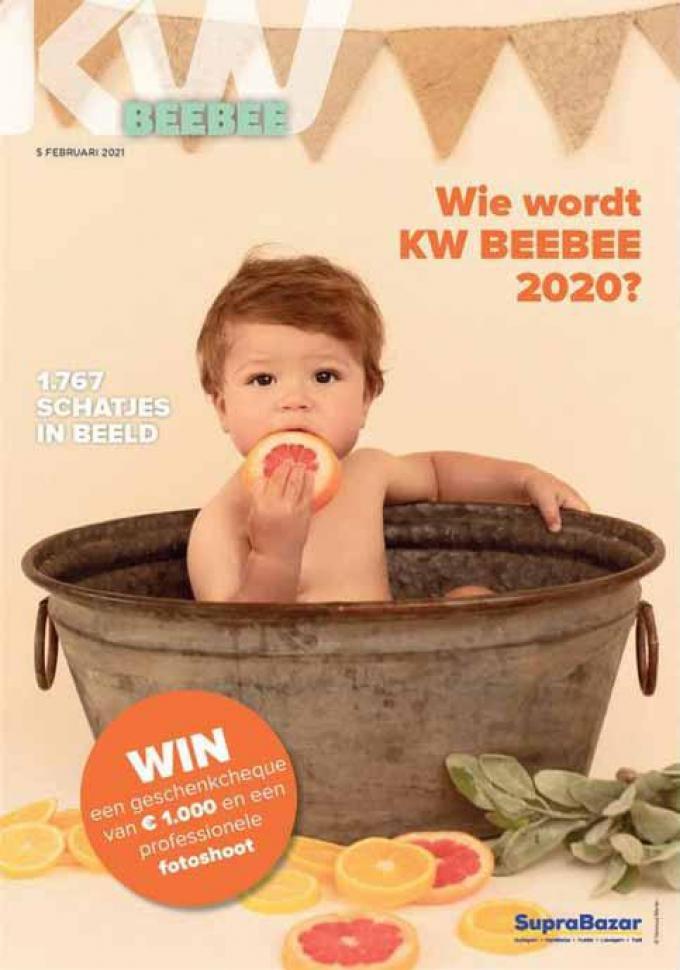 Op vrijdag 5 februari zit de babyspecial 'KW Beebee' gratis bij De Krant van West-Vlaanderen.
