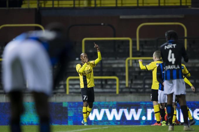 Fessou Placca was de absolute uitblinker: hij scoorde driemaal.©KRISTOF VAN ACCOM BELGA