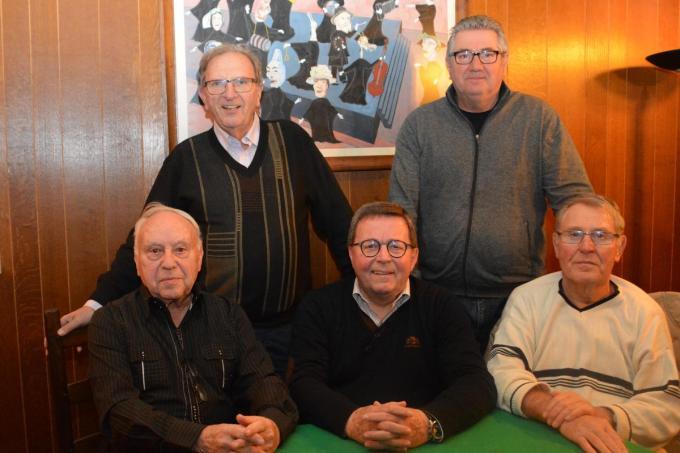 De huidige bestuursgroep bestaat uit voorzitter Emiel Braeckman (midden) geflankeerd door zijn bestuursleden Kamiel Dirickx , Daniel Dekeyzer , André Delanghe en Danny Desport. (foto JRO)©Jeffrey Roos (c)