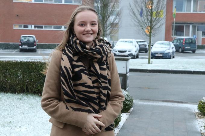 Liana Delporte kreeg vrijdag een prikje tegen het coronavirus.© (Foto EF)