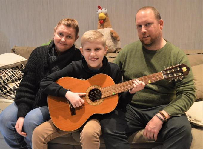 Voor Wout en zijn papa Neil en plusmama Sandy was de Krak-nominatie een lichtpuntje in een zwaar jaar.©WK WK