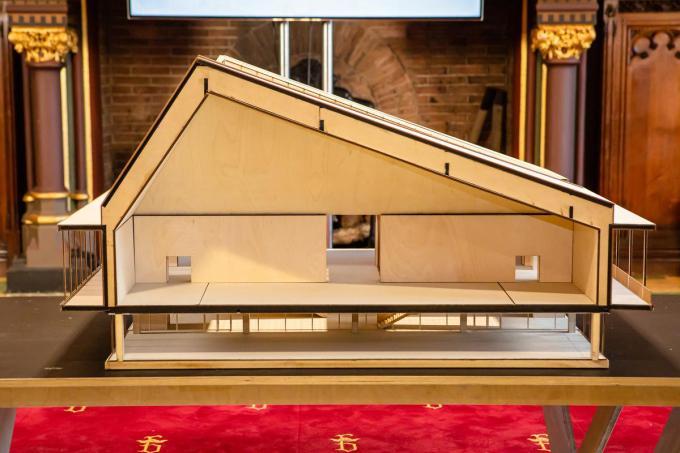 De maquette van de nieuwe Brugse expohal.©Davy Coghe Davy Coghe