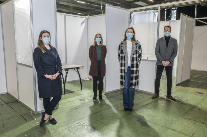 Vanuit de eventsector herkennen we van links naar rechts Isabel D'Hulster, Lotte Duyck, Nena Vanhenden en Dieter Ducoulombier.©STEFAAN BEEL Stefaan Beel