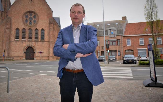 Burgemeester Lieven Vanbelleghem (CD&V) van Langemark-Poelkapelle.© TOGH