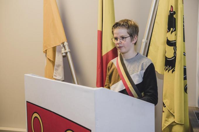 Stach Vanhaecht is de nieuwe kinderburgemeester van Kuurne.© Olaf Verhaeghe