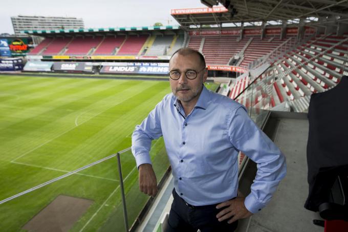 """""""Essevee zal altijd een familieclub blijven met een warm hart voor de sport en uiteraard voor onze supporters"""", licht ceo Eddy Cordier toe.© Belga"""