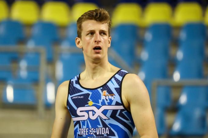 Alexander Doom tijdens de atletiekmeeting.© BELGA