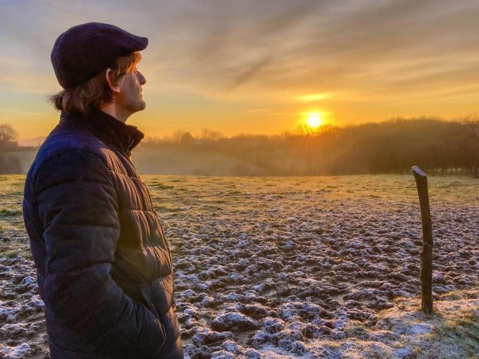 Geert De Kockere is bergdichter van Heuvelland.© GF