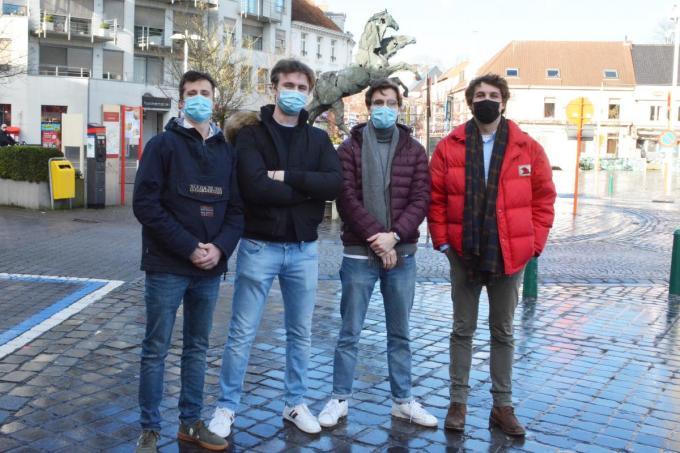 V.l.n.r. Gilles Simons, Max Ceelen, Mathias De Coster en Maarten Heremans. (foto HDV)©Hein Demeyer