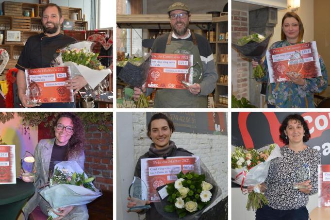 De zes winnaars van de vijfde editie van de Komense Ondernemerawards.© CL