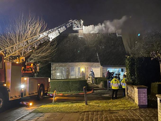 De brandweer was de situatie snel meester.© JVM