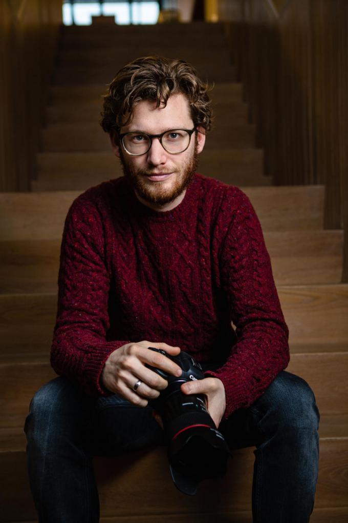 Wouter Verplancke is al vijf jaar fotograaf bij Boven De Wolken.©Davy Coghe Davy Coghe