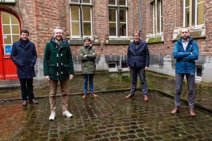 We zien Karel Dendooven, Pieter Marechal, Dries Vanbelleghem, Franky Demon en Dries Van Den Broucke.©Davy Coghe Davy Coghe