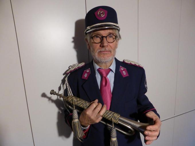 Rik Ryon speelt nog regelmatig thuis op zijn klaroen.©MICHAEL DEPESTELE MD