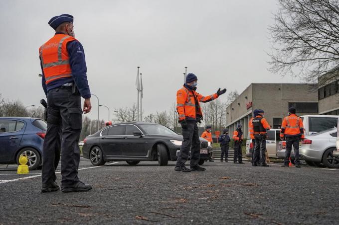 Elk verdacht voertuig werd onderworpen aan een controle.© CL