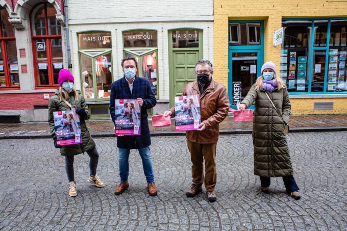Klare Naert, Pablo Annys, Dirk De fauw en Ilse Snick herlanceren de Local Love campagne© Davy Coghe