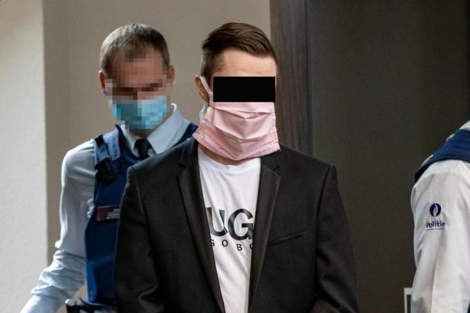 Jordy Vande Sompele (26) staat terecht voor de moord op Bjorn De Vrieze (28).©KURT DESPLENTER BELGA