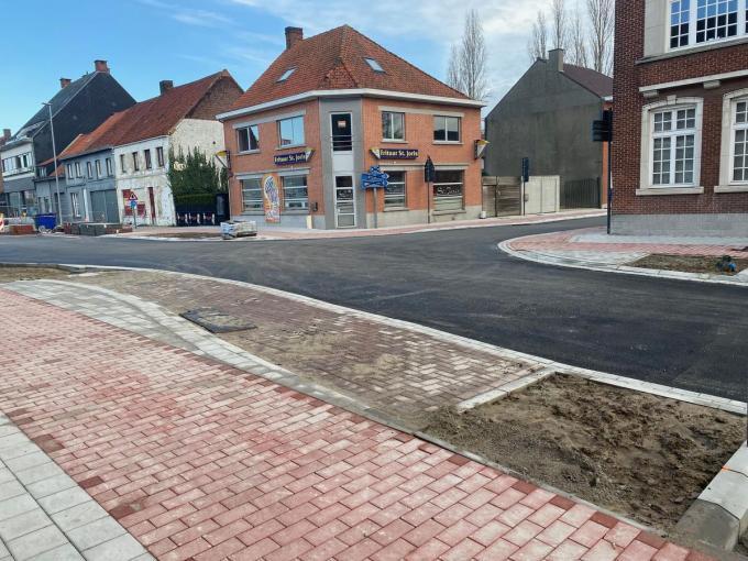 Het kruispunt van de Brugge- en Meulebekestraat.©FODI