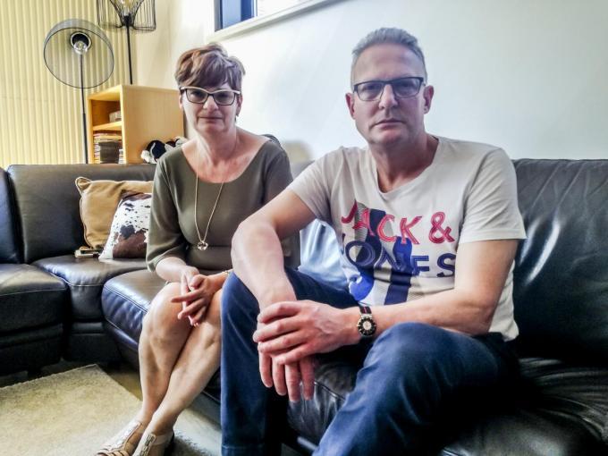 Hans De Vrieze en Gudrun Vandeginste, ouders van Bjorn De Vrieze. (archief PVH)©Philippe Verhaest PVH